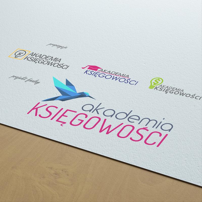 Propozycje i werja finalna logo projektu Akademia Księgowości