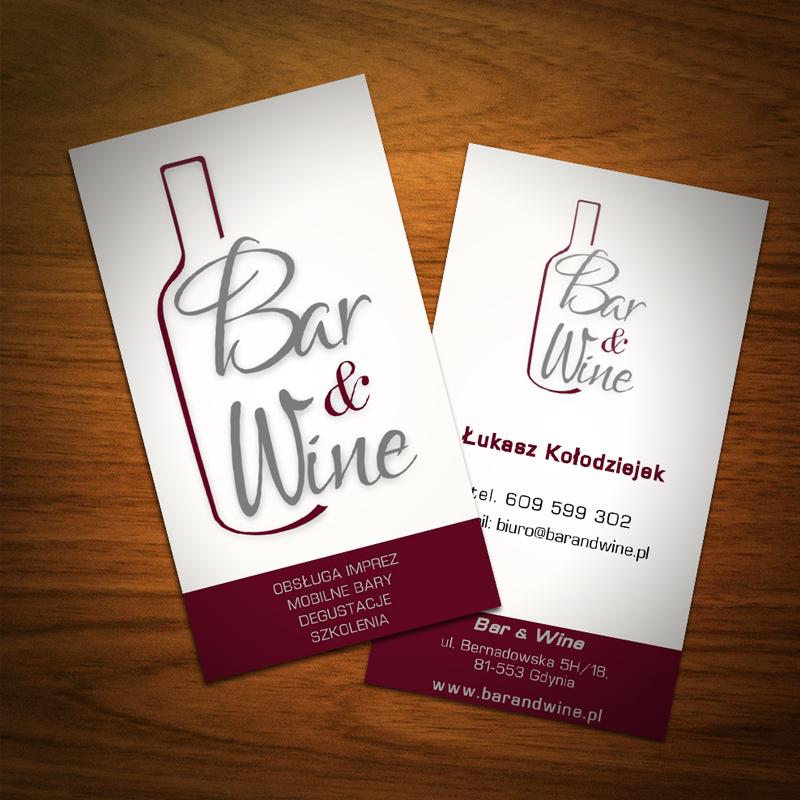 Propozycja wizytówek dla Bar&wine