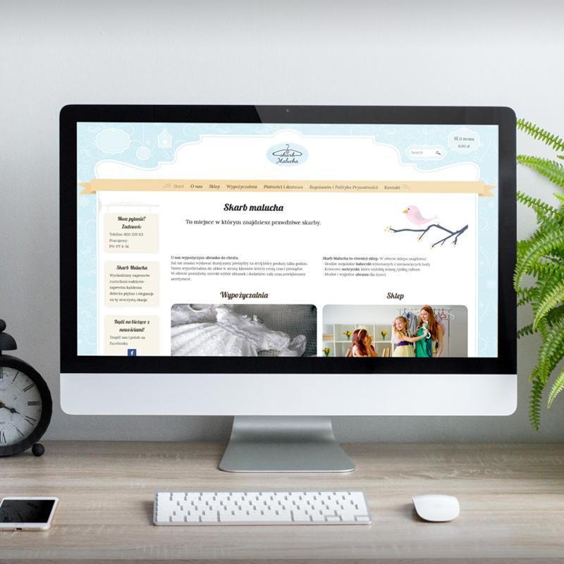 Strona z funkcją sklepu  Skarb-malucha.com