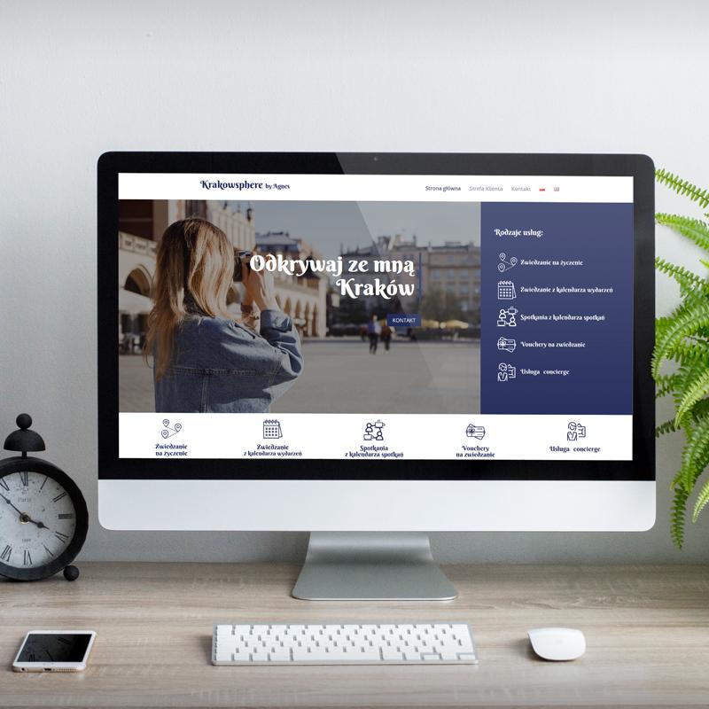 Strona usługi Krakowsphere for business